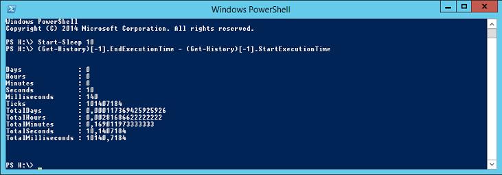 Durée d'exécution de la dernière commande en PowerShell